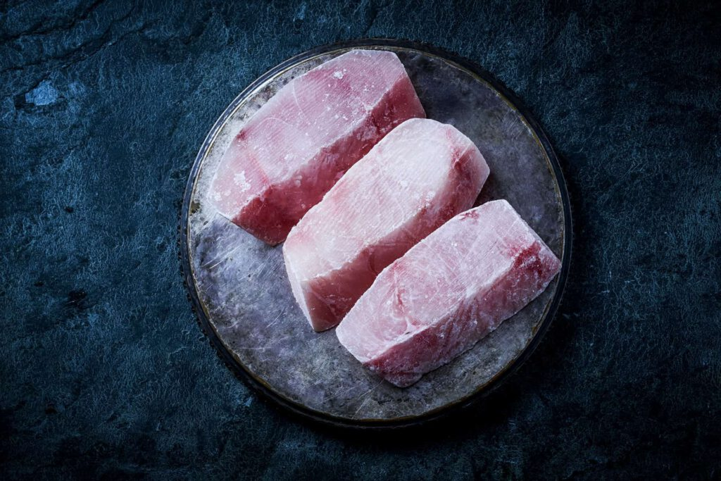 Fatless Chunks of the Nile perch Frozen